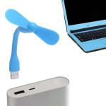 Quạt mini 2 cánh chân cắm USB thân uốn dẻo cực mát - Xanh