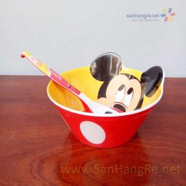 Bộ đồ dùng ăn hình Micky Mouse cho bé hàng xuất Nhật 02