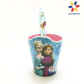 Bộ đồ dùng ăn hình Elsa và Anna cho bé hàng xuất Nhật - Xanh