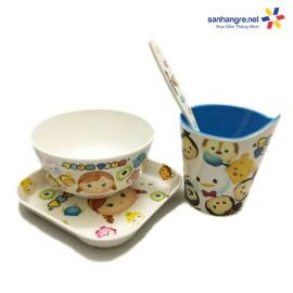 Bộ đồ dùng ăn hình Tsum Tsum cho bé hàng xuất Nhật