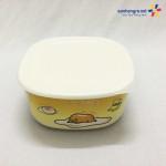 Bát đựng thực phẩm có nắp đậy Gudetama hàng xuất Nhật