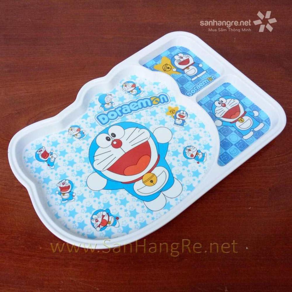 Khay ăn chia 3 ngăn hoạt hình Doraemon hàng xuất Nhật