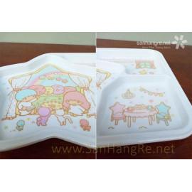 Khay ăn chia 3 ngăn hoạt hình Little Twin Stars hàng xuất Nhật