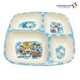 Khay ăn chia 4 ngăn hoạt hình Doraemon hàng xuất Nhật