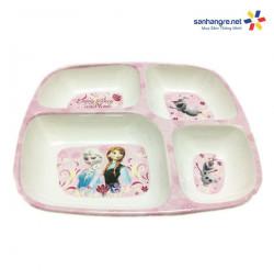Khay ăn chia 4 ngăn hoạt hình Elsa và Anna hàng xuất Nhật