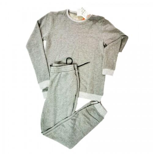 Bộ quần áo nỉ nam Echoroba xuất Hàn - Xám