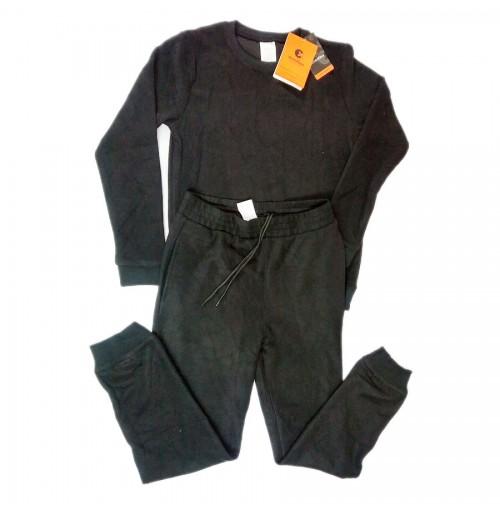 Bộ quần áo nỉ nam Echoroba xuất Hàn - Đen
