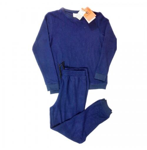 Bộ quần áo nỉ nam Echoroba xuất Hàn - Tím than