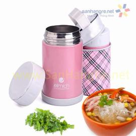 Bình đựng thức ăn hút chân không 500ml Elmich EL6844 (kèm túi) - Hồng