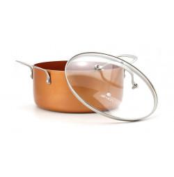 Nồi phủ sứ chống dính Elmich Royal Classic 24cm vung kính dùng bếp từ