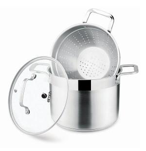 Bộ nồi xửng hấp Inox 304 Elmich EL3361 26cm nắp kính dùng bếp từ