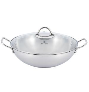 Chảo sâu lòng 5 đáy Inox 304 Elmich 32cm EL-3255 dùng bếp từ