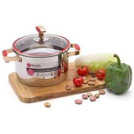 Nồi Inox 304 Red Velvet Elmich 18cm 2.5L 2355267 dùng bếp từ xuất xứ CH Séc, bảo hành 5 năm
