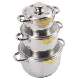 Bộ 3 nồi Inox 3 đáy Fivestar Royal Cool dùng bếp từ chính hãng, bảo hành 60 tháng