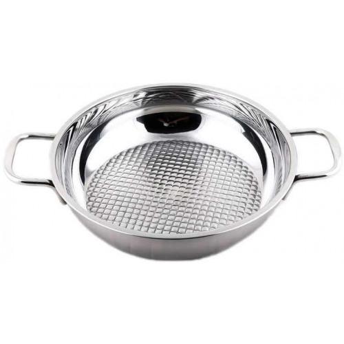 Chảo caro Inox 3 đáy Fivestar 24cm dùng bếp từ