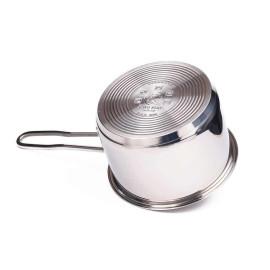 Quánh nấu bột Inox 3 đáy đường kính 14cm Fivestar nắp kính dùng bếp từ hàng chính hãng, bảo hành 60 tháng