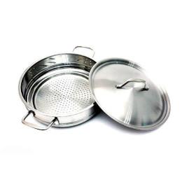 Bộ nồi hấp Inox 3 đáy Fivestar đường kính 24cm dùng bếp từ hàng chính hãng, bảo hành 5 năm