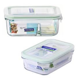 Bộ hộp thủy tinh 400ml, hộp chia ngăn 670ml và túi giữ nhiệt Glasslock
