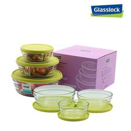 Bộ 3 hộp thủy tinh tròn Glasslock Everon GL-1627