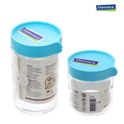 Bộ 2 hũ thủy tinh đựng thực phẩm Glasslock Hàn Quốc 400ml và 600ml