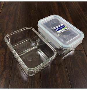 Hộp thủy tinh đựng thực phẩm 2 ngăn Glasslock 1000ml