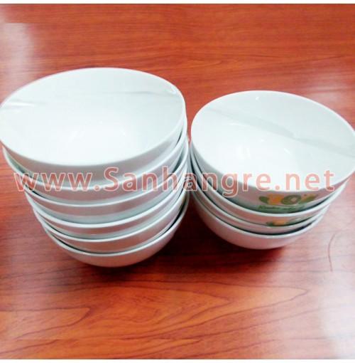 Combo 10 chén cơm sứ trắng GPC