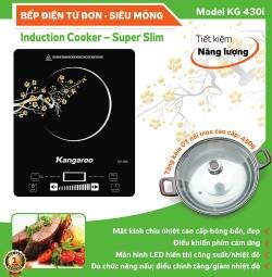 Bếp điện từ đơn siêu mỏng Kangaroo KG430i (Tặng 1 nồi Inox nắp kính 28cm)