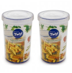 Bộ 2 hộp bảo quản thực phẩm Lock&Lock Twist LLS133 1.3L