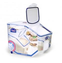 Thùng đựng gạo có bánh xe Locklock 10kg HPL510 (Tặng kèm 1 cốc đong gạo)