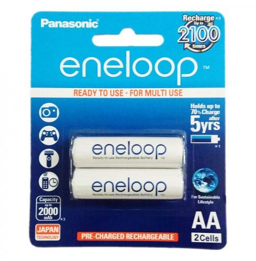 Vỉ 2 Pin sạc AA Panasonic Eneloop 2000mAh BK-3MCCE/2BT (Hàng chính hãng)