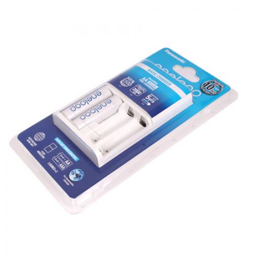 Máy sạc và 2 viên Pin AA Panasonic Eneloop