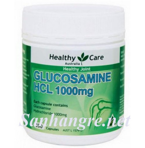 Viên uống hỗ trợ viêm xương khớp healthy care glucosamine HCL 1000mg