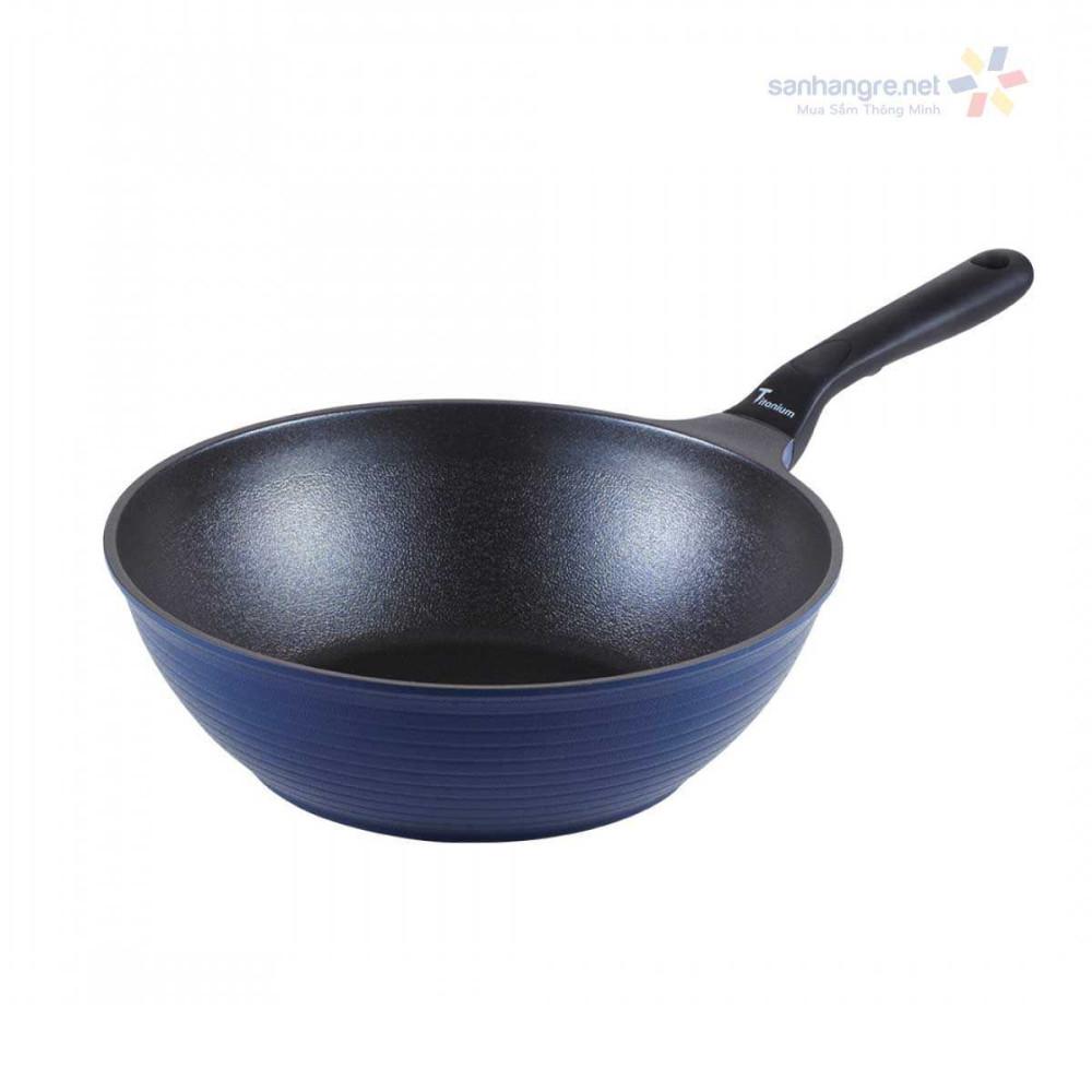 Chảo chống dính sâu lòng ILO Titanium Hàn Quốc cao cấp 28cm dùng bếp từ