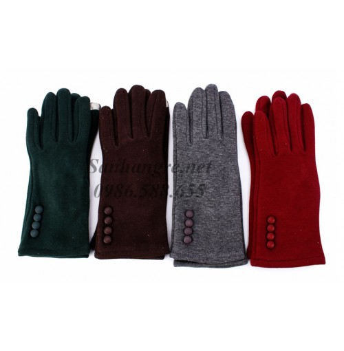 Găng tay nỉ lót lông kèm cảm ứng dành cho nữ
