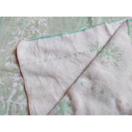 Khăn tắm xanh hoa tuyết Songwol Antique 110x65cm