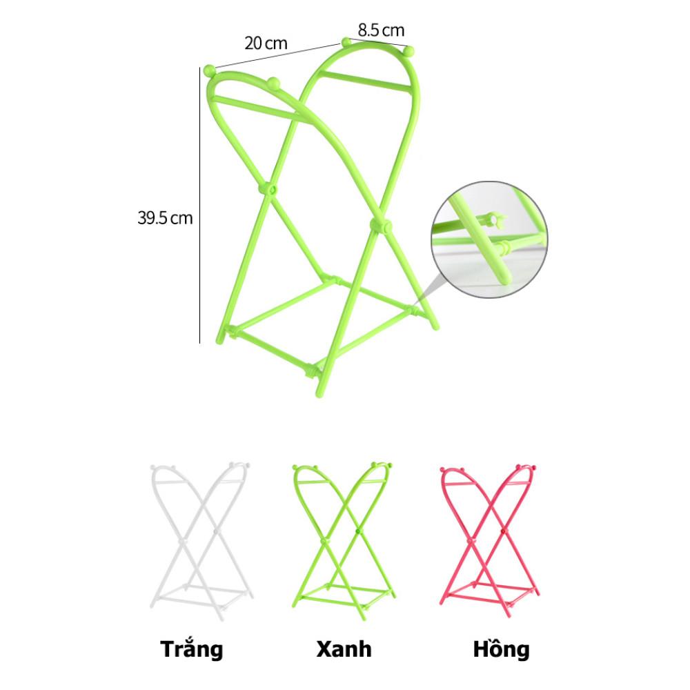 Khung nhựa treo túi đựng rác gấp gọn KM-1105 (giao màu ngẫu nhiên)