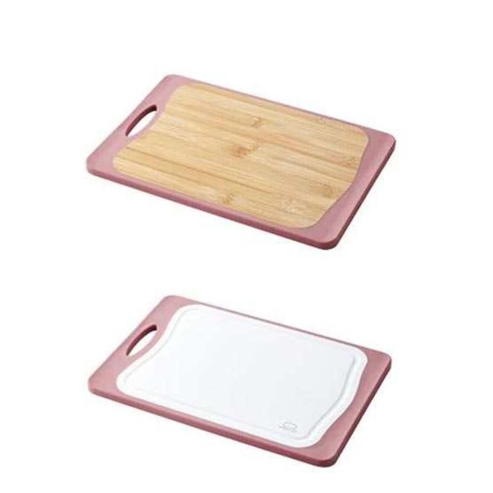 Thớt kháng khuẩn 2 mặt nhựa và gỗ Lock&lock CSC305P
