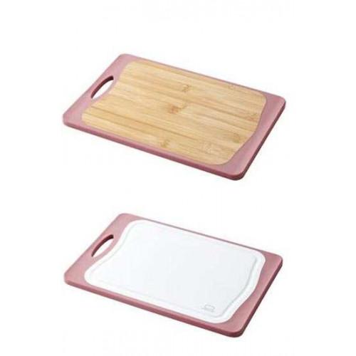 Thớt kháng khuẩn 2 mặt nhựa và gỗ Lock&lock CSC304P 39,5 x 28 x 1,1cm
