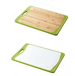 Thớt kháng khuẩn 2 mặt nhựa và gỗ Lock&lock CSC305DG