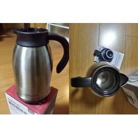 Bình giữ nhiệt Inox 304 pha cafe Lock&lock Plump Coffee Pot 1.8L có tay cầm