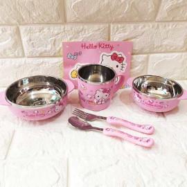 Bộ Đồ Ăn Lock&Lock Hello Kitty LKT423S4 - Hồng