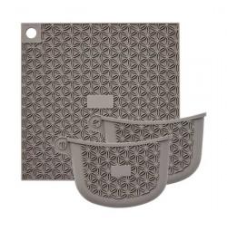 Bộ miếng lót nồi và 2 miếng bắc đồ silicone Lock&lock LLT026