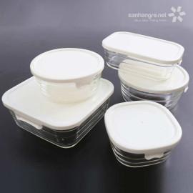 Bộ 5 hộp thủy tinh chịu nhiệt Lock&lock Samsung P015S5AV