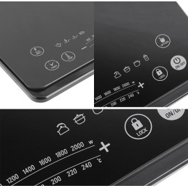 Bếp điện từ siêu mỏng Ultra-Slim Lock&Lock EJI131BLK 2000W