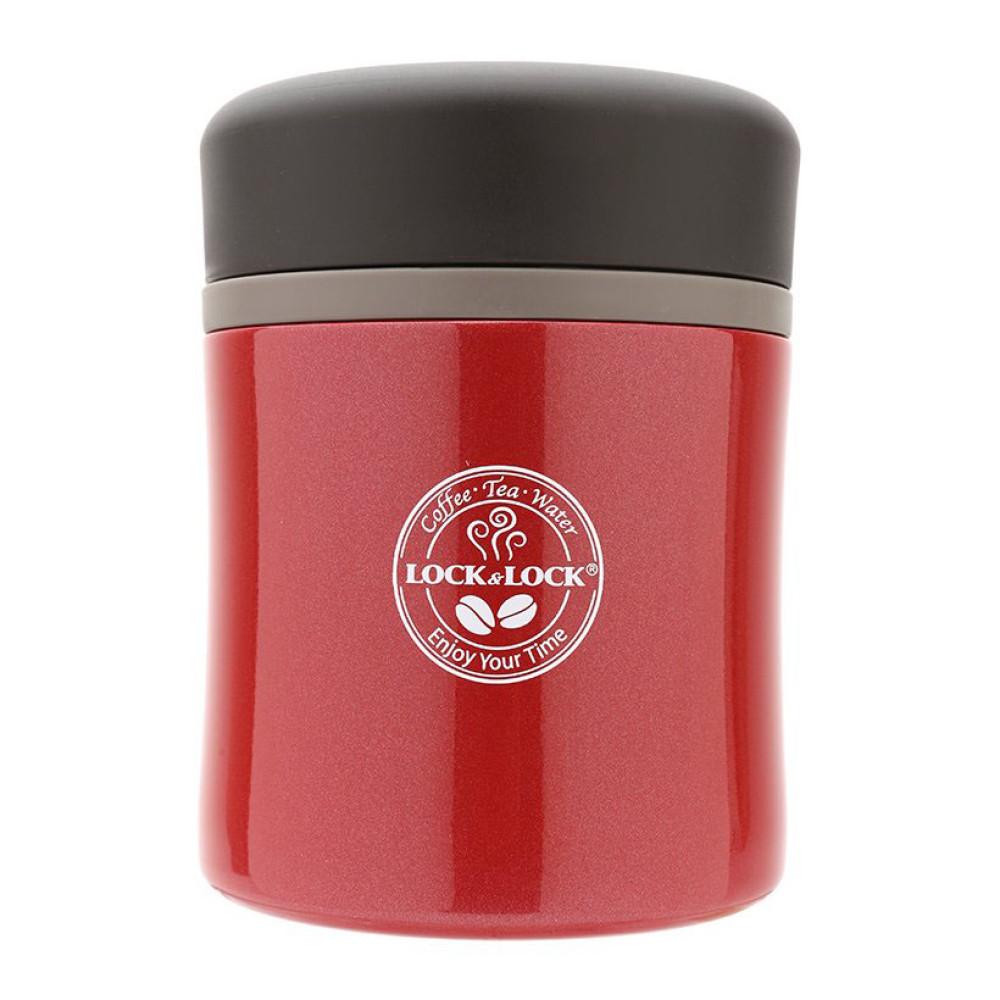 Bình giữ nhiệt nấu cháo Lock&lock HOT&COOL LHC8003R 450ml màu đỏ