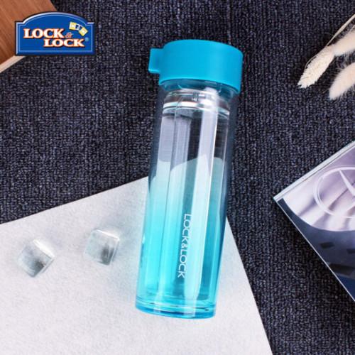 Bình nước thủy tinh 2 lớp chống nóng tay Lock&lock Crystal LLG653BLU 350ml màu xanh