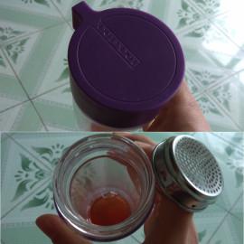 Bình nước thủy tinh 2 lớp chống nóng tay Lock&lock Crystal LLG653VOL 350ml màu tím