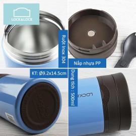 Bình giữ nhiệt nấu cháo Locknlock HOT&COOL LHC8024 500ml - Hồng