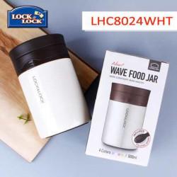 Bình giữ nhiệt nấu cháo Locknlock HOT&COOL LHC8024 500ml - Trắng