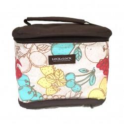 Túi giữ nhiệt Lock&lock HWB472 hoa văn 18x14x14cm